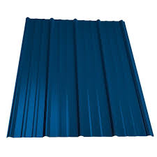 Metal Sales 10 ft Classic Rib Steel Roof Panel in Ocean Blue