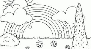 Rainbow Coloring Pages Printable With Regard To Encourage Color