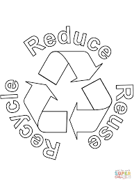 Click The Reduce Reuse Recycle Coloring Pages