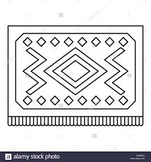 Turkish Carpet With Geometric Pattern Icon