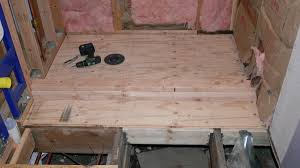 Sistering Floor Joists With Plywood by How To Build A Shower
