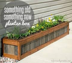 Let Your Flowers Shine This Fall In A DIY Rustic Wood Flower Planter Box Find