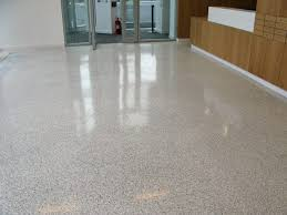 Terrazzo Floor And Wooden Wall Plus Glass Door For Modern Interior Decoration