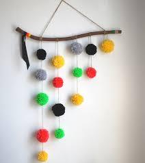 Hanging Decorations Ideas Stylish Diy Pom Hangi On Wall Home Decoration Idea For 20