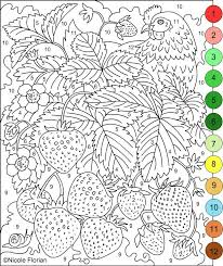 Really Hard Color By Number Coloring Pages With Key Free