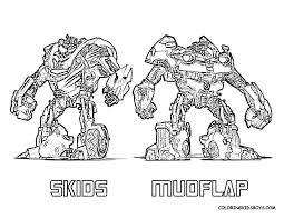 Transformers Coloring Pages Autobots Skids Mudflap