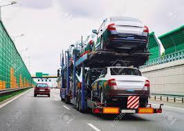 100 Truck Carrier Car On The Asphalt Highway In Poland