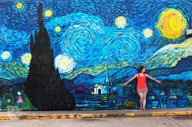 Deep Ellum Mural Locations by Starry Night Mural Waco Tx 10th St And Columbus Ave I Love