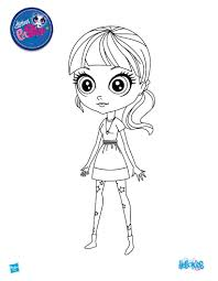 Beautiful BLYTHE Free Printing Page To Color
