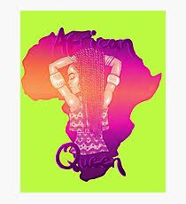 African Queen Sunset Photographic Print