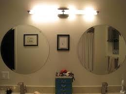bathroom mirror light bulbs lighting big with lights around it