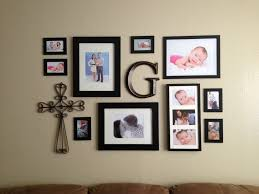 Photo Collage Ideas For Wall 11 Modern Interior Design With Family Picture Frame Black Stained Wood