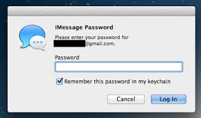 iMessage keeps asking for password won t sync