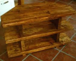 Handmade Rustic 3 Tier Corner TV Unit Stand 007