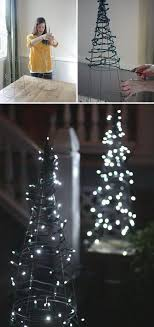 Diy Outside Christmas Decorations Lovely Tomato Cage Tree Lights Create A Magical Forest Scene