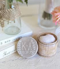 Personalized Rustic Ring Bearer Pillow Box Shabby Chic Wedding Decor Custom By Morgann Hill Designs