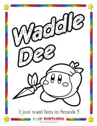 Nintendo Releases Special Coloring Pages For Kirbys 25th