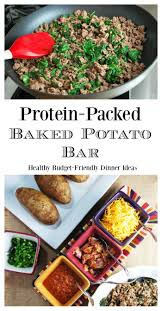 Healthy And Protein-Packed Baked Potato Bar- Amee's Savory Dish Baked Potato Bar Restaurant Potatoes For A Crowd Diy The Ultimate Twice Notable Nest Cfc 125 Trickin Out The Beverage Dispenser Best Twice Baked Potatoes Recipe Cheese Herb Fans Recipe Taste Of Home Hot Dinner Happy Super Easy Meal 2 Smarty Pants Mama Best 25 Potato Bar Ideas On Pinterest Used Toppings Ways To Top Delishcom Buildyourown Evite