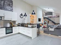 cuisine blanche ouverte sur salon restructuration pièces à vivre ouest home cuisine ouverte sur