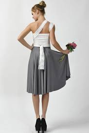 dark gray skirt with lace straps infinity bridesmaid dresses lace
