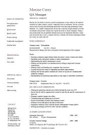 Quality Assurance Resume Examples Control Templates Software Analyst