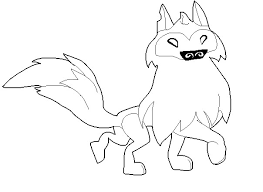 Animal Jam Coloring Pages Tiger Free Arctic Wolf Base By FiveNightsAtChesters On