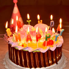 13PCS LOT Romantic Birthday Cake HAPPY BIRTHDAY Letter Candle Multicolour Birthday Candle