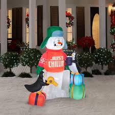 Frosty Snowman Christmas Tree by Amazon Com Gemmy Airblown Inflatable Animated Shivering Snowman