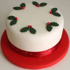 Personalised Christmas Card Christmas Cake Commission It
