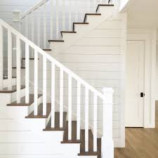 Shiplap Stairs. White Oak Flooring. Kara Hebert Interiors ... Best 25 Wrought Iron Stair Railing Ideas On Pinterest Iron Custom Railings And Handrails Custmadecom A Vintage Pair Of Very Large French Mahogany Finials Newel Post 112 Best Stairs Ideas Tutorials Images Our 1970s House Makeover Part 6 The Hardwood Entryway Pin By O John Znewell Post Caps Cap Tips For Pating Stair Balusters Paint Stairs Banisters Metal Banister Spindles Double Basket Michelle Paige Blogs Before After Of A Banister Door Knob Door Handle Boutique Kings Road Ldon Uk
