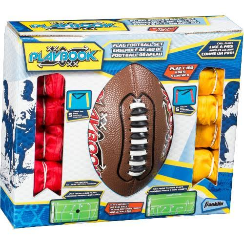Franklin Sports Mini Playbook Kids Flag Football Set