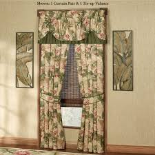 Tropical Window Art Curtains by Tropical Haven Tie Up Valance Window Treatment