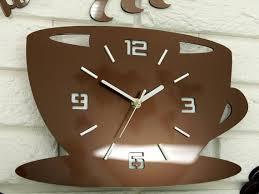 uhr zur küche küchenuhr wanduhr coffe zeit metalic copper geschenk wanddekoration große wanduhr