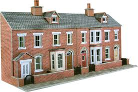 100 What Is A Terraced House PO274 00H0 Scale Low Relief Red Brick Fronts