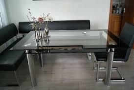 toller moderner tisch esszimmer glastisch esstisch mit 2