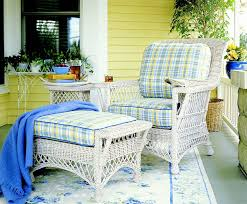 Manchester Wicker Chair And Ottoman Whitewash Finish Atlantic Coastal