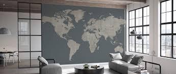 voguish world map green gray