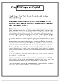 100 Used Work Trucks Bank Owned Truck Specials For Sale Wholesale