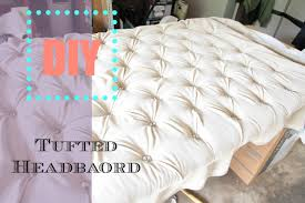Diamond Tufted Headboard With Crystal Buttons by Diy Tufted Headboard Tutorial Nianicole Youtube