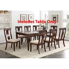 Rowena Cherry Wood Contemporary Rectangular Formal Dinette Dining Room Table With 18 Leaf Extension
