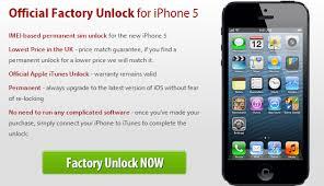 Unlock iPhone 5 Using ficial iPhone 5 Unlock Service