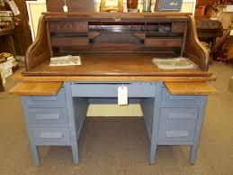 antique teacher s desk hand painted in grey blue chalk paint