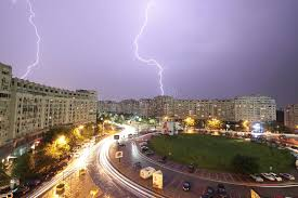Download Lighting Storm In Bucharest Editorial Image