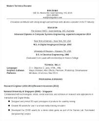 Technical Resume Example Templates With Modern Free Flat And Template Freebies To