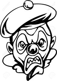 Creepy Clown Pumpkin Stencils by Creepy Smile Clip Art Clipart Collection