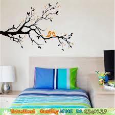 baise dans la chambre romantique oiseaux baiser branche d arbre wall sticker home