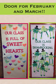 Winter Themed Classroom Door Decorations by Classroom Door Ideas For Valentines Day And St Patricks Day