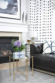 Raymour And Flanigan Living Room Tables by Fireplace Area Makeover Reveal Cuckoo4design