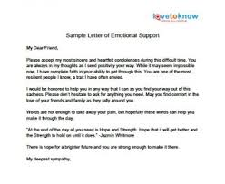 Letter of Emotional Support