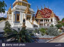 100 Banglamung Buddhist Thai Temple Newly Constructed Chonburi Stock